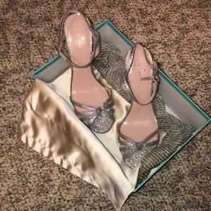 Kate Spade Florence Silver Glitter Heels